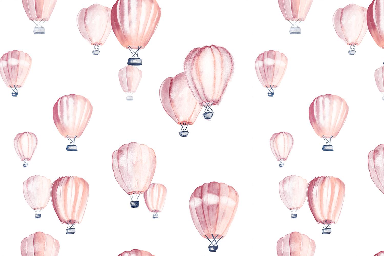 motif exotique montgolfières