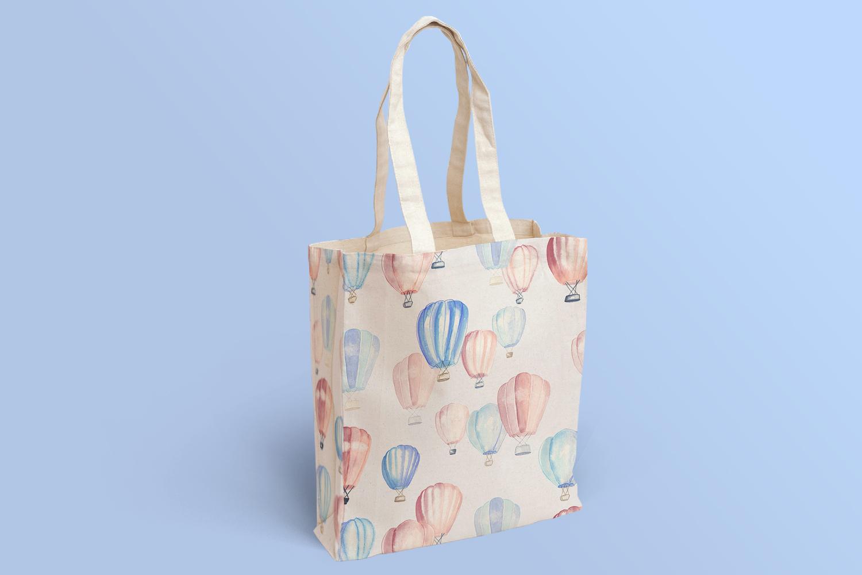 mockup motif montgolfières