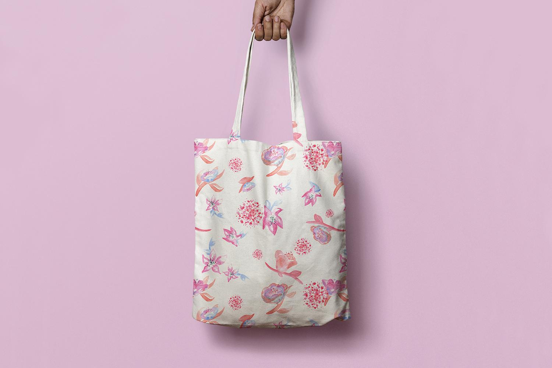 mockup motif floral