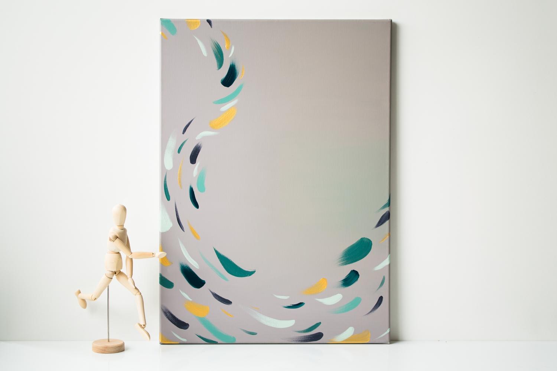 tableau taupe art abstrait