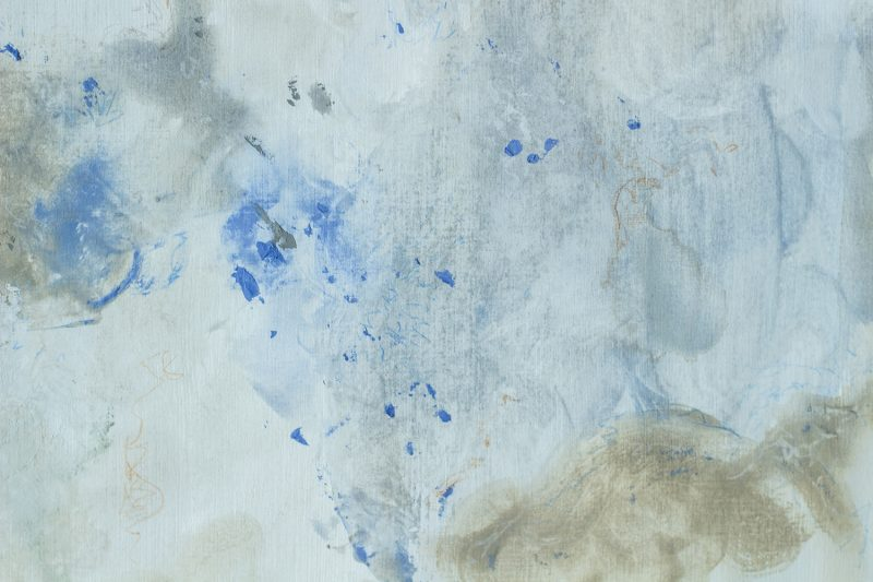 detail painting on paper sky and earth