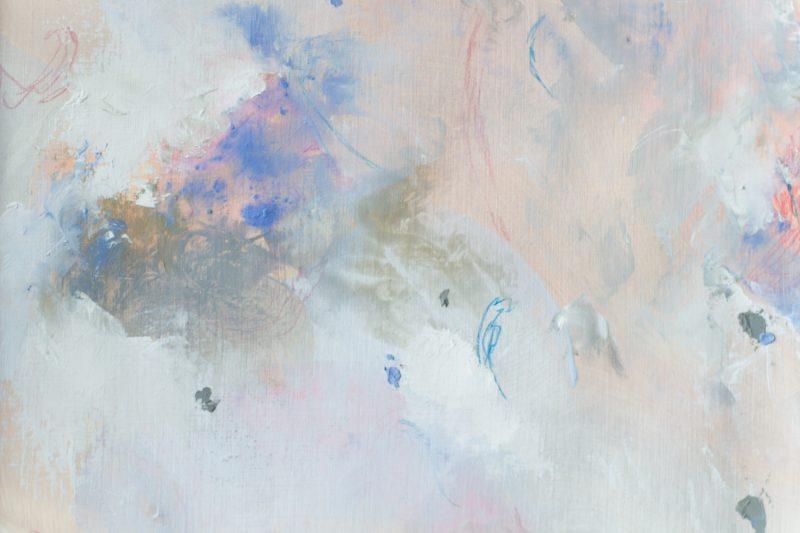 detail painting beige grey blue pink