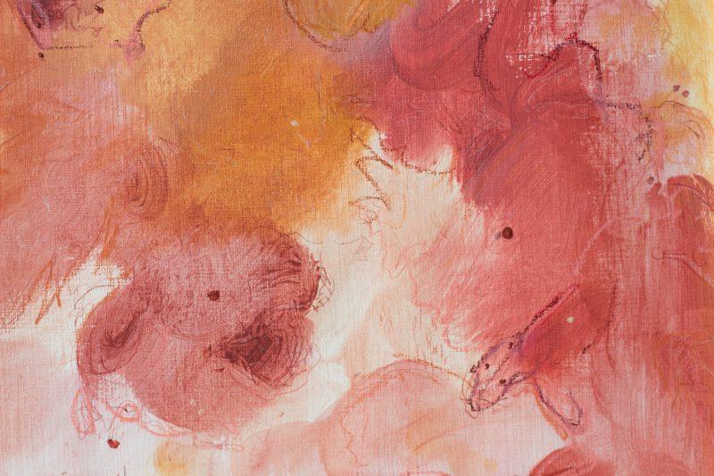 detail tableau art terracotta et ocre