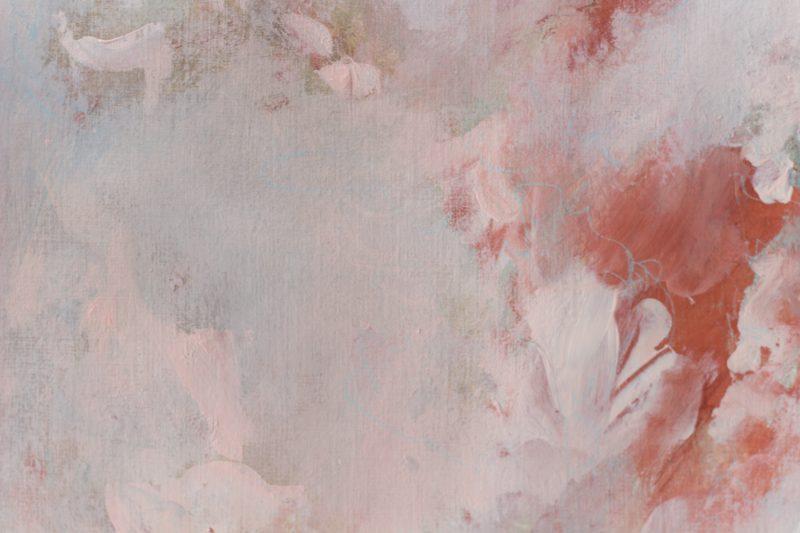 detail tableau terracotta et rose pale