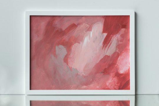 peinture rose fushia