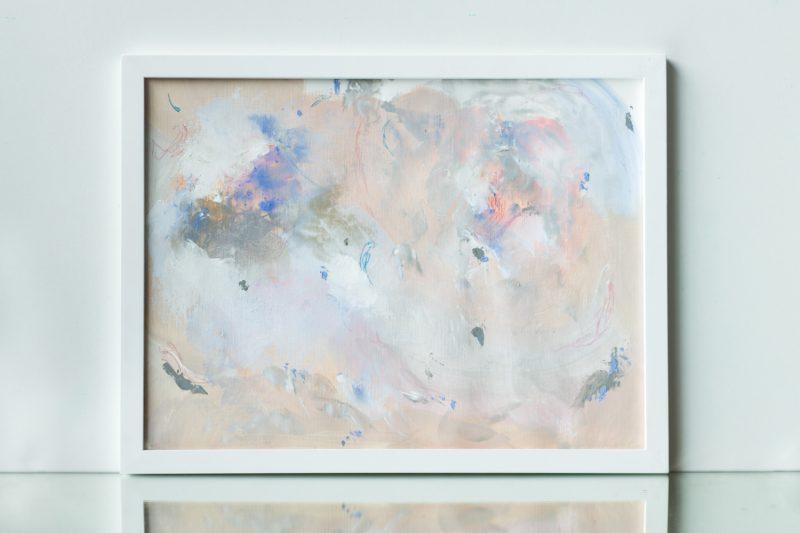 tableau beige gris bleu rose