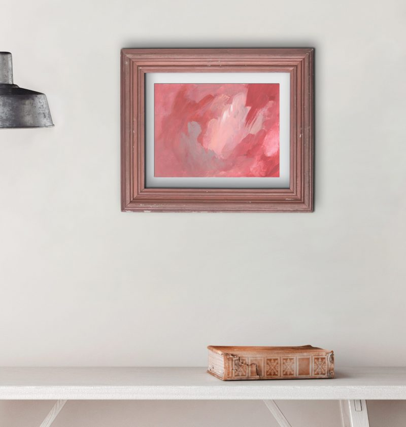 tableau terracotta et rose en situation